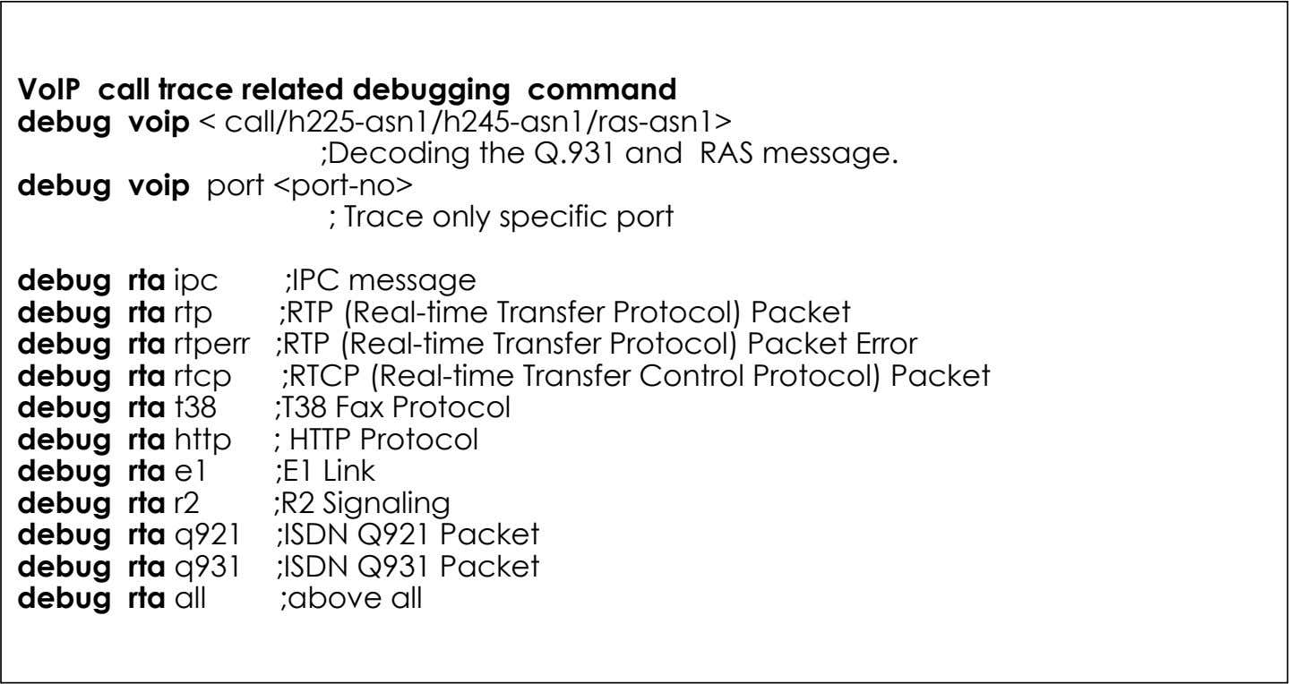 ;ISDN Q931 Packet debug rta all ;above all 19 AddPac Technology www.addpac.com May. 2002, VoIP Network