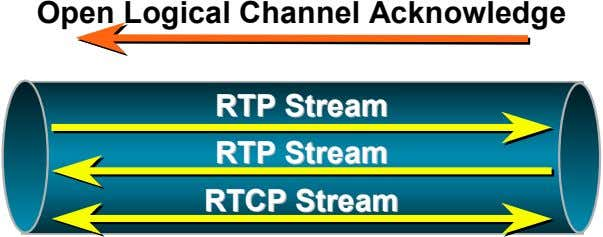 Open Logical Channel Acknowledge RTPRTP StreamStream RTPRTP StreamStream RTCPRTCP StreamStream
