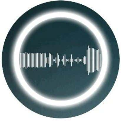 circle engages the opposite state, allowing you to easily talk when the track is muted or