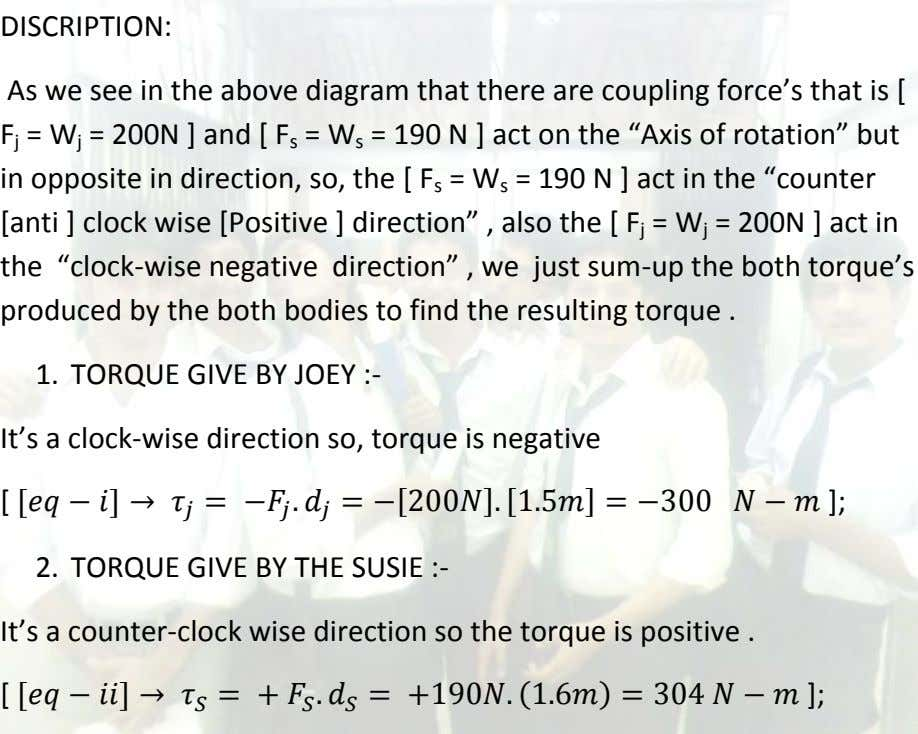 DISCRIPTION: As we see in the above diagram that there are coupling force's that is