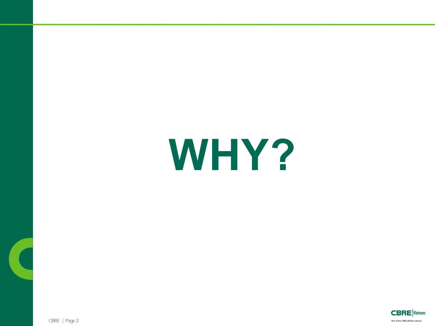 WHY? CBRE | Page 2