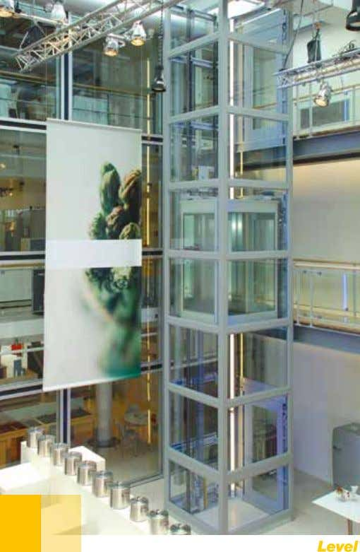 glass. Indoor installation in a company (France), with structure supported frame in stainless steel and glass