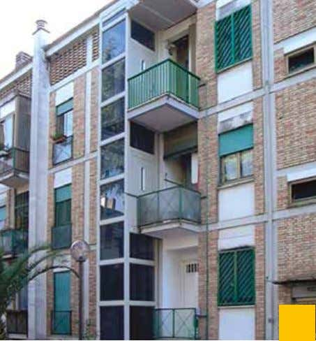 supported frame in white steel sheet and glass cladding. Outdoor installation in a condominium (Italy), structure