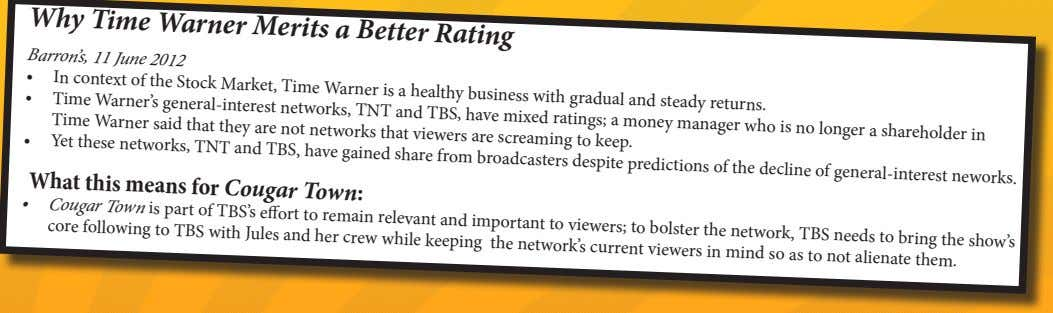 current viewers in mind so as to not alienate them. CBS Triumphs in 2011-2012 Network Ratings