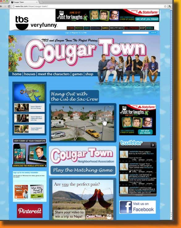 Most visited links and tabs will also be tracked each week to understand what Cougar Town