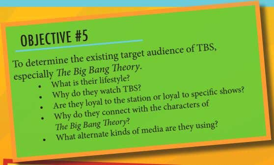 OBJECTIVE #5 To determine the existing target audience of TBS, especially The Big Bang Theory.