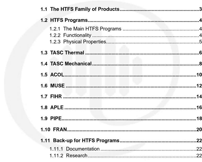 1.1 The HTFS Family of Products 3 ......................................................... 1.2 HTFS Programs ................................................................................ 4 1.2.1 The Main