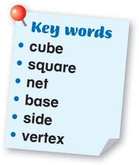 Key words • cube square net • • • • base side • vertex