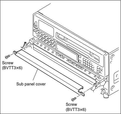 panel. Screw (BVTT3x6) Sub panel cover Screw (BVTT3x6) 2. Install the switch cover supplied with BKDW-515
