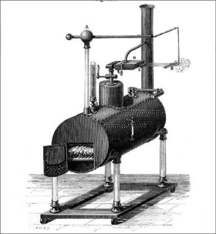 Fig. 5 : Machine d'ARMSTRONG, (Visible à l'institut du Patrimoine technique à Polytechnique)