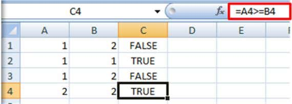 retrieve TRUE or FALSE Example 1 – using cell references Example 2 – using functions