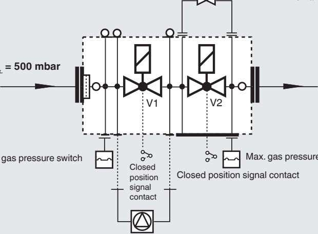 V1 V2 Closed Closed position signal contact position signal contact