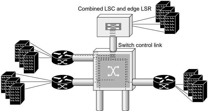 Combined LSC and edge LSR Switch control link
