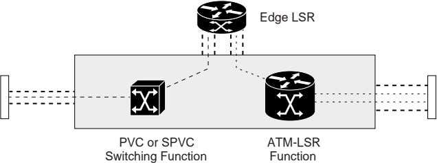 Edge LSR PVC or SPVC Switching Function ATM-LSR Function