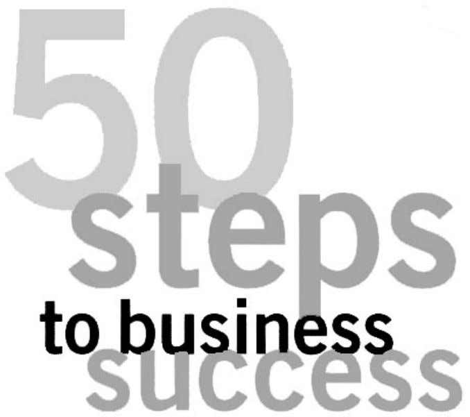 50 steps to busines success