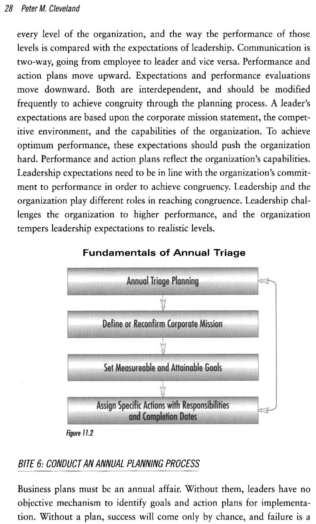28 Peter M. Cleveland every level of the organization, and the way the performance of