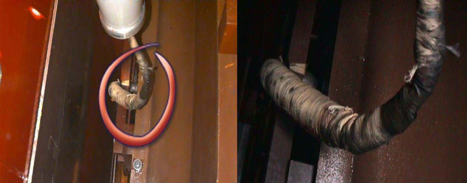 138 KV BUSHING ON PHASE B (PRIMARY) TERMINAL LEAD WAS DEFECTED.
