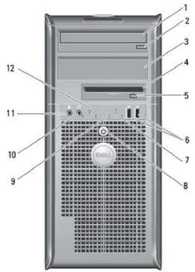 760 TECHNICAL GUIDEBOOK V1.0 MINI TOWER COMPUTER (MT) VIEW FRONT VIEW   1 Optical Drive 7