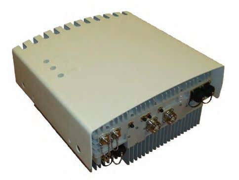 collectively called the remote radio head (figure 5.3). 5.3 The RRH is compact and rugged for