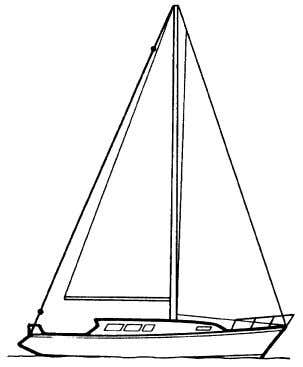 topping lift does not get caught in the backstay since the antenna may be shorted to