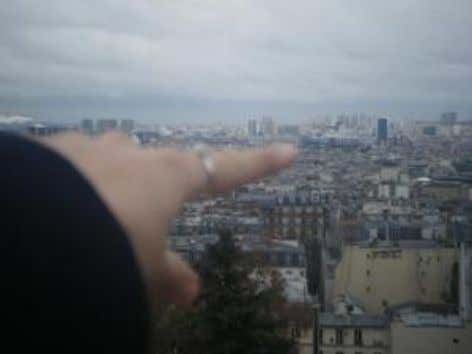 they are absolutely nothing. The world is crazy Gio. Noe. MyfingerpointingPompidou CenterfromMontMartre.