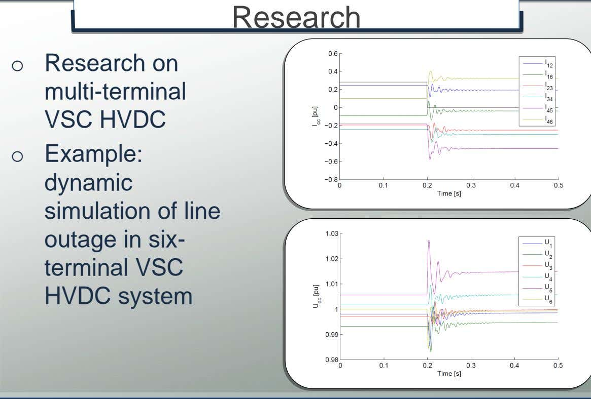 o Example: dynamic simulation of line outage in six- terminal VSC HVDC system © K.U.Leuven –
