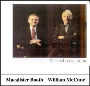 Macalister Booth William McCune