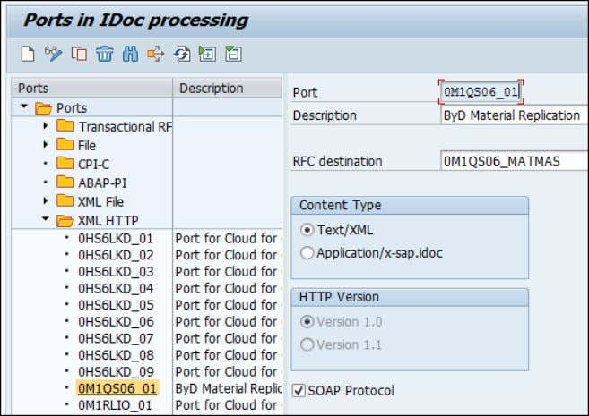 ALE Scenario Configuration and WSDL File for IDOC XML Message Standard ALE Configuration is required to