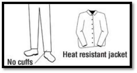 7 Skin Safety Protective clothing is essential for safety. Welding clothes and aprons protect against heat,