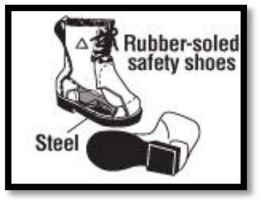 8 Feet Safety Boots protect against sparks hitting the feet. In the event of a fire,