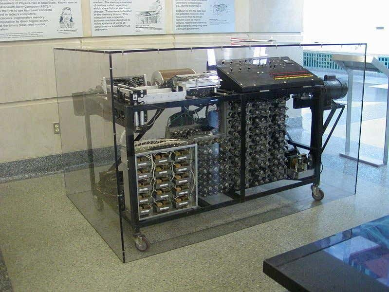 was capable of computing complicated algebraic equations. Fig.10 ABC digital computer (first truly digital computer)