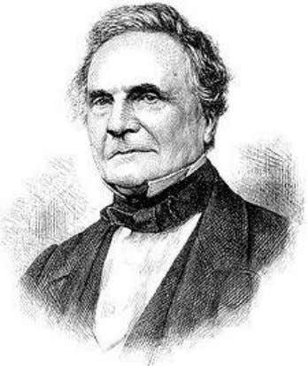 use of mechanical gearing to perform operations. Fig.12 'Analytical Engine' first logic gate Fig.13 Charles Babbage