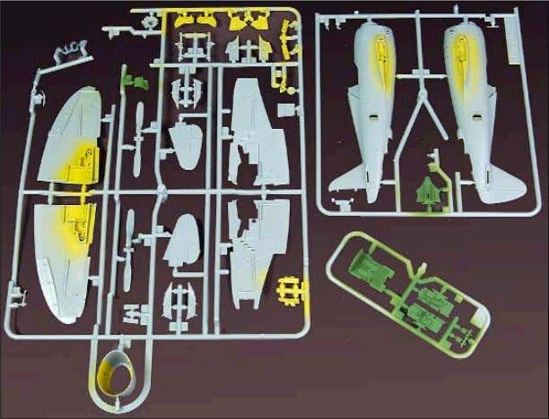has thoughtfully ensured that the interior parts for the 1/72-scale P-47 can be painted while they