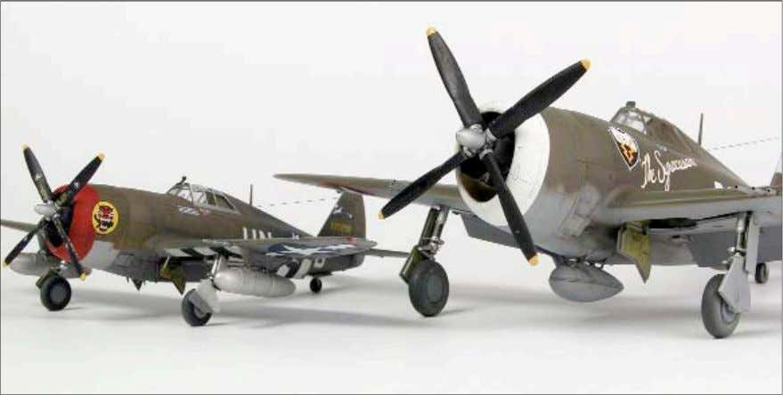 'Razorback' Apart from its size, the 1/72-scale Tamiya P-47D concedes little to its 1/48-scale counterpar t.