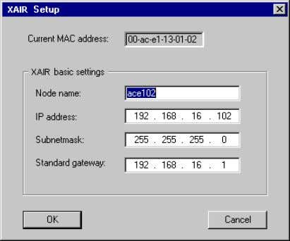 Figure 10-4: The menu Setup The following dialog box opens: Figure 10-5: The Setup dialog box