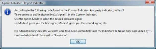 your job to know the right signal and parameters for your EA In Custom Indicators –