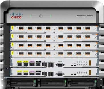 Series Aggregation Services Router Figure 1-1 6-Slot Chassis • Cisco ASR 9000 Series Router 10-Slot Chassis