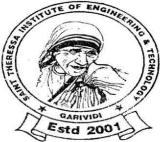AVANTHI ' S St.THERESSA INSTITUTE OF ENGG &TECHNOLOGY::GARIVIDI Vizianagaram Dist.(A.P) DEPARTMENT OF ELECTRONICS AND COMMUNICATION ENGINEERING