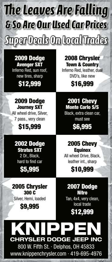 The Leaves Are Falling & So Are Our Used Car Prices Super Deals On Local