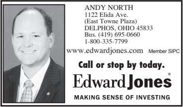 ANDY NORTH 1122 Elida Ave. (East Towne Plaza) DELPHOS, OHIO 45833 Bus. (419) 695-0660 1-800-335-7799