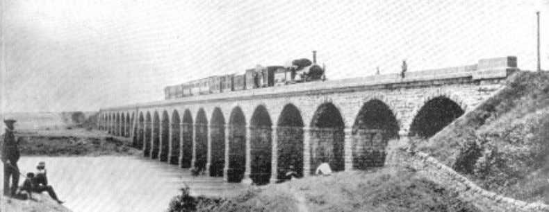 Fig. 1.4 First Railway Bridge linking Bombay with Thane, 1854 Indian people gained owing to