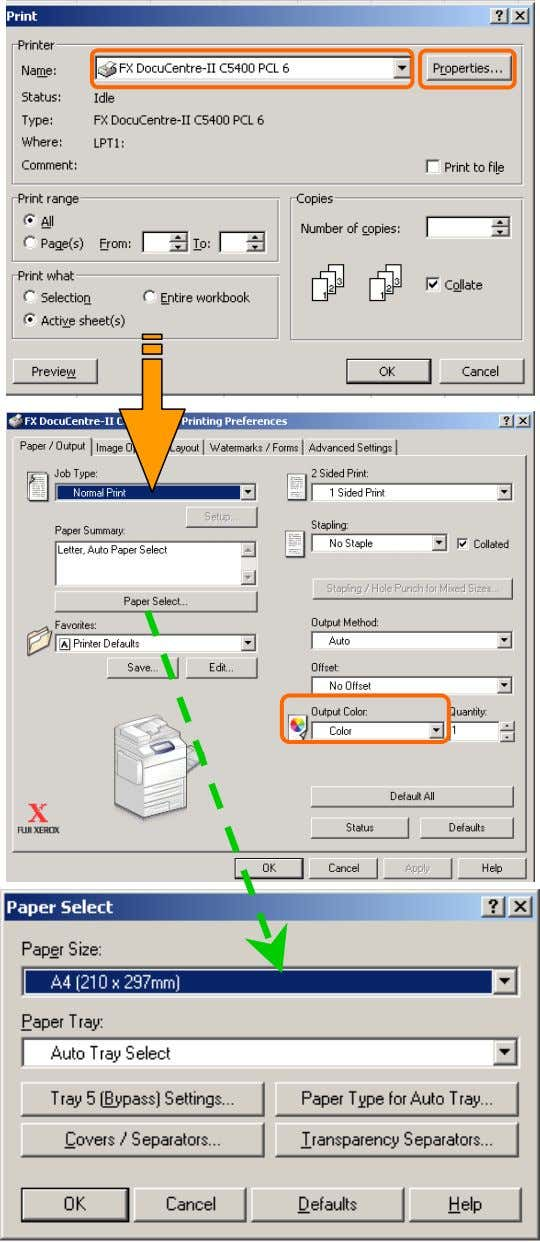 application, you can print directly from computer. Print 1 From application, Select Printer – [Properties] 2