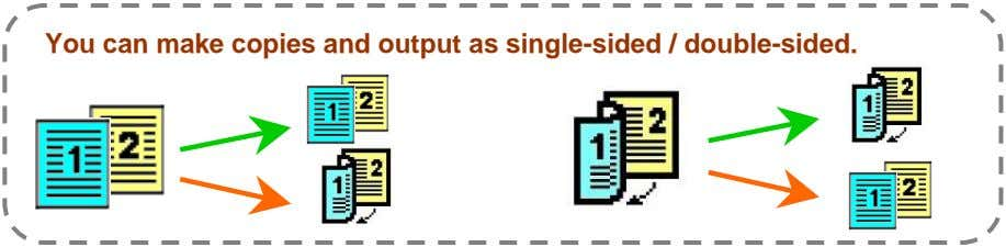 You can make copies and output as single-sided / double-sided.