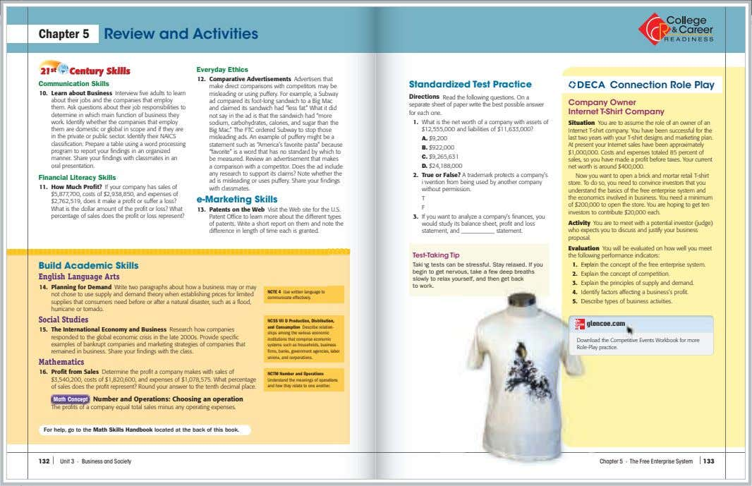 Chapter 5 Review and Activities Everyday Ethics 12. Comparative Advertisements Advertisers that at Communication