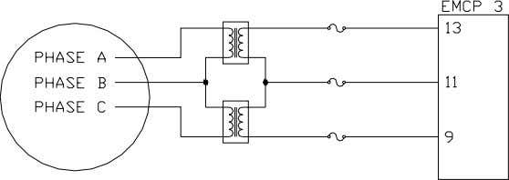 Transformers (PT) on the 4-Wire Wye Connected Generator Figure 7: Open Delta Configuration of External Potential