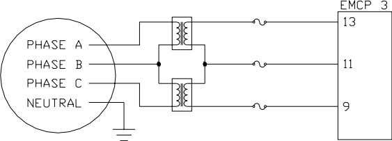 Transformers (PT) on the 3-Wire Delta Connected Generator Figure 8: Open Delta Configuration Of External Potential