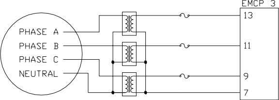 12 Caterpillar Inc. Figure 6: Wye Configuration of Ex ternal Potential Transformers (PT) on the 4-Wire