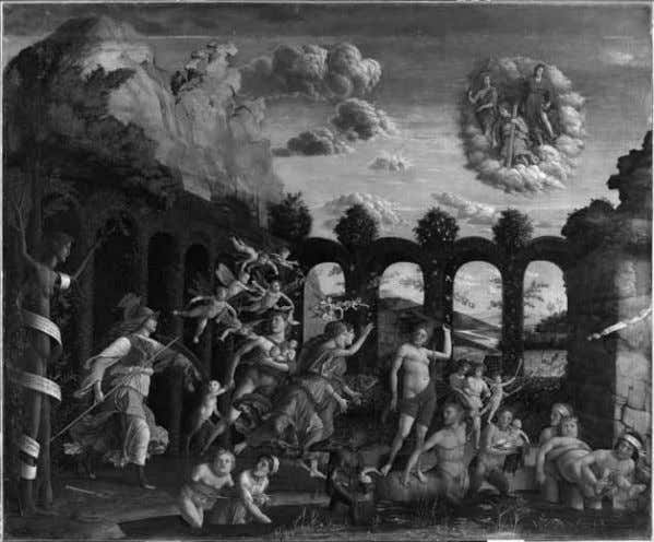 Nagel: Twenty-five notes on pseudoscript in Italian art 243 Figure 17. Andrea Mantegna, Minerva Chasing the