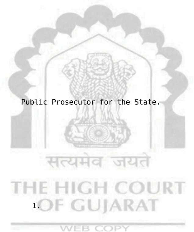 and Mr. K.P. Public Prosecutor for the State. It may be recorded that the J.C.