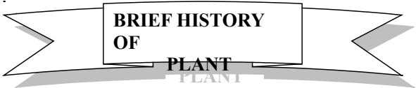BRIEF HISTORY BRIEF HISTORY OF OF PLANT PLANT